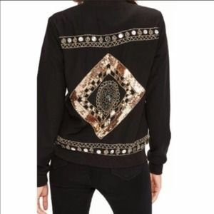 NEW ASOS MISSGUIDED Sequined Black Bomber Jacket 4